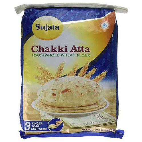 Sujata Chakki Atta - 20lb