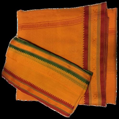 Orange Dhoti & Patka