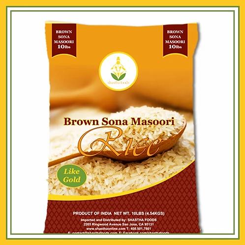 Shastha Sona Masoori Brown-10lb