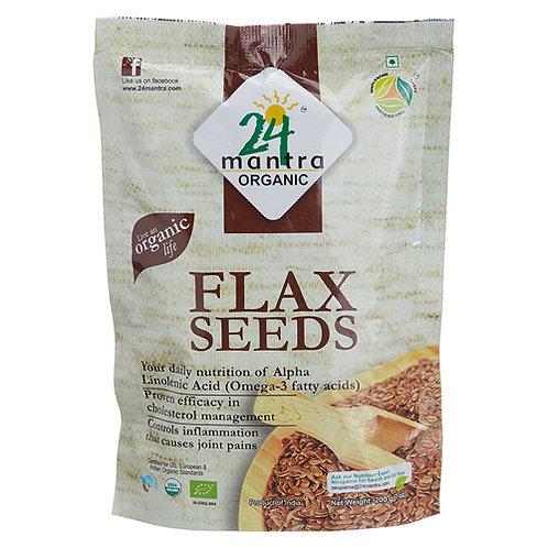 24M Org Flax Seeds 7oz