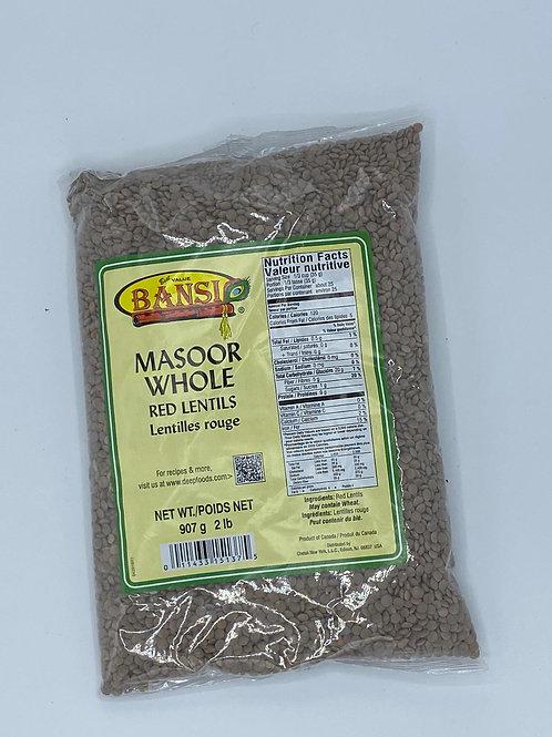Bansi Masoor Whole Brown - 2lb