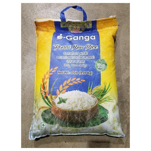 i-Ganga Ponni Raw Rice 20lb