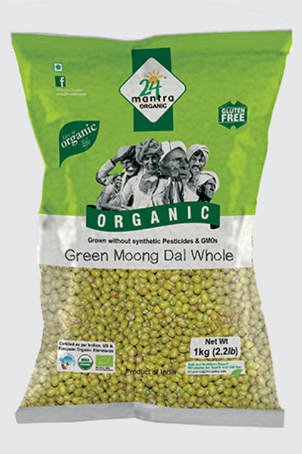24M Org Green Moong Whole - 4lb