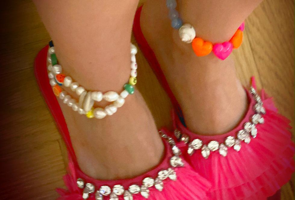 Pearl & Bead Ankle Bracelet