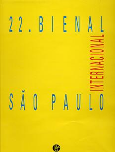 22 Bienal Internacional de Sao Paulo Catalogue