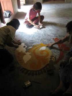 Installation of kairy floor pattern