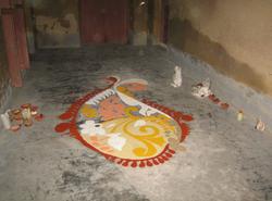floor of the zenana