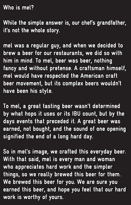About Mel's Brewing