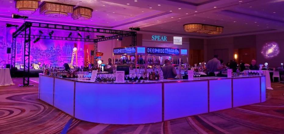 Glow Bar set up