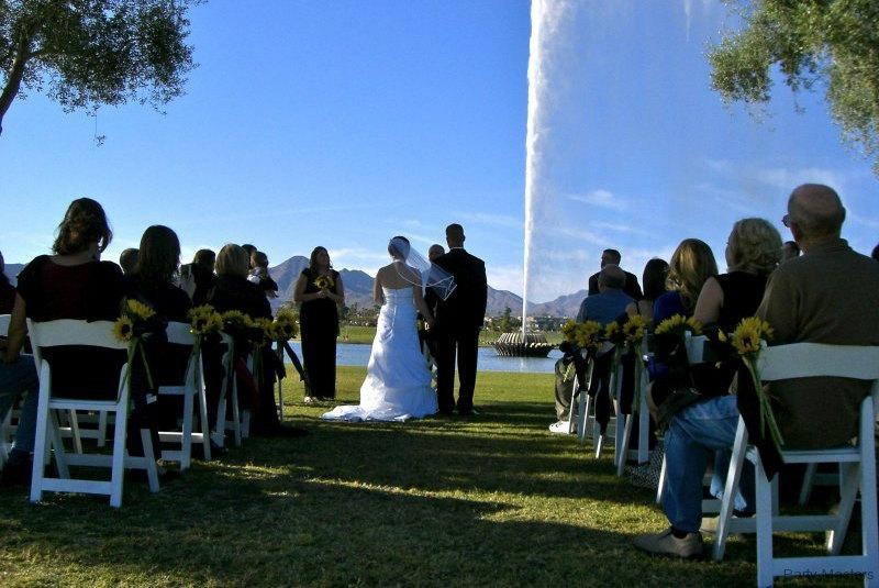 Wedding ceremony outside