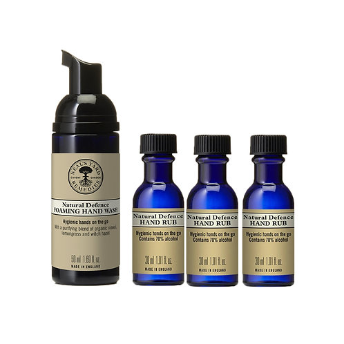 Natural Defence Foaming Hand Wash & Sanitizer Set