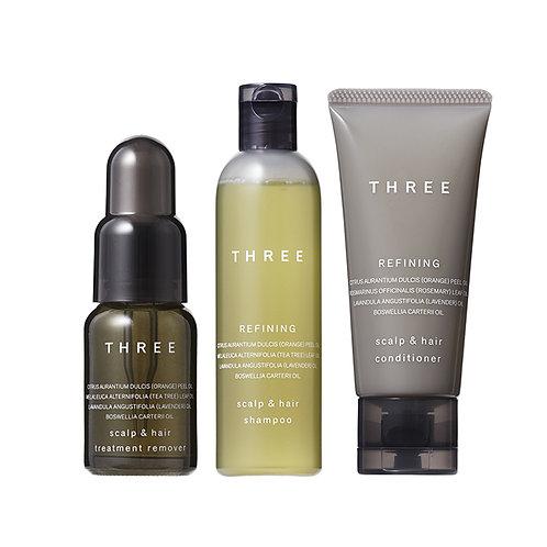 THREE Scalp & Hair Treatment Remover & Refining R Trial Kit