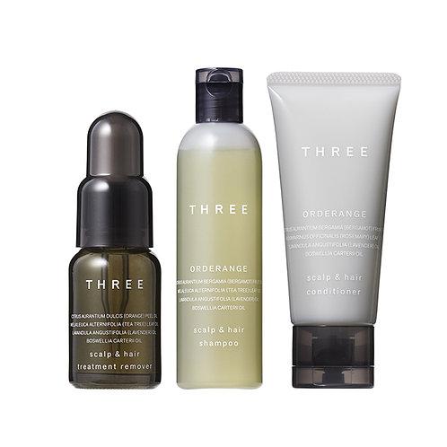 THREE Scalp & Hair Treatment Remover & Orderange R Trial Kit
