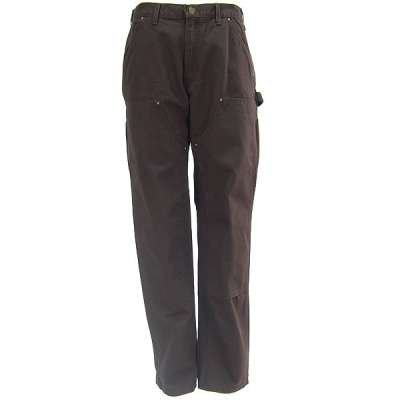 CARHARTT B136 DKB WASHED-DUCK DOUBLE-FRONT WORK DUNGAREE