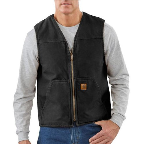 CARHARTT 104394 WASHED DUCK SHERPA LINED VEST