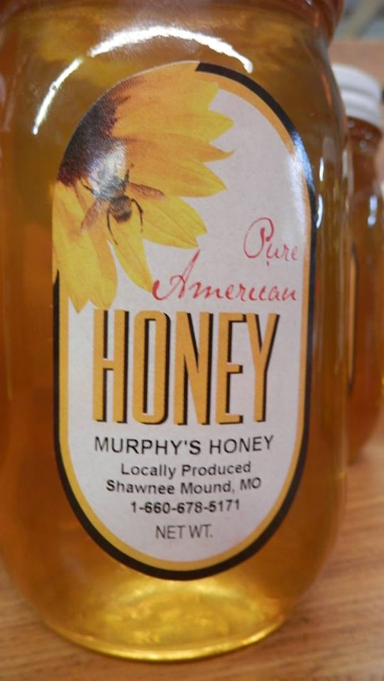 We sell locally produced honey!