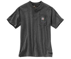 Carhartt Short Sleeve Workwear Henley 026-Carbon Heather