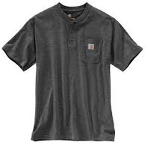 Carhartt Short Sleeve Workwear Henley 026-Carbon Heather