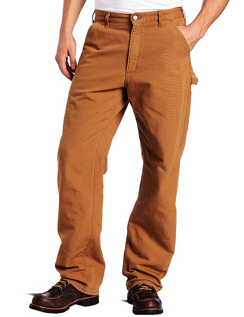 CARHARTT B111 WASHED DUCK DUNGAREE/FLANNEL LINED