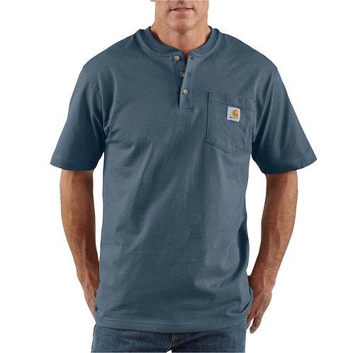 Carhartt Short Sleeve Workwear Henley BLS Bluestone