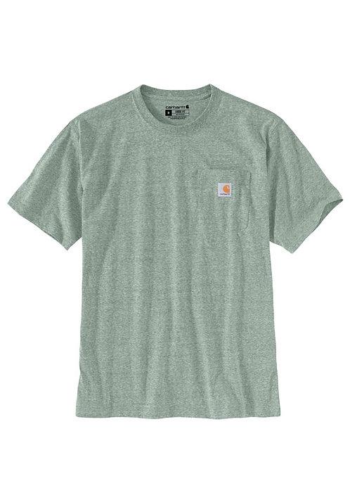 Carhartt Workwear Pocket T-Shirt K87-G67 Leaf Green Snow Heather