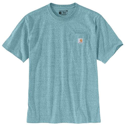 Carhartt Workwear Pocket T-Shirt K87-H35 Blue Spruce Snow Heather