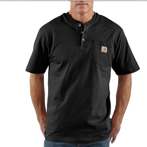 Carhartt Short Sleeve Workwear Henley Black