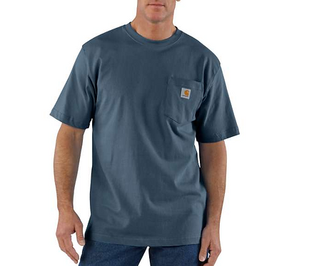 Carhartt Workwear Pocket T-Shirt BLS - BLUESTONE