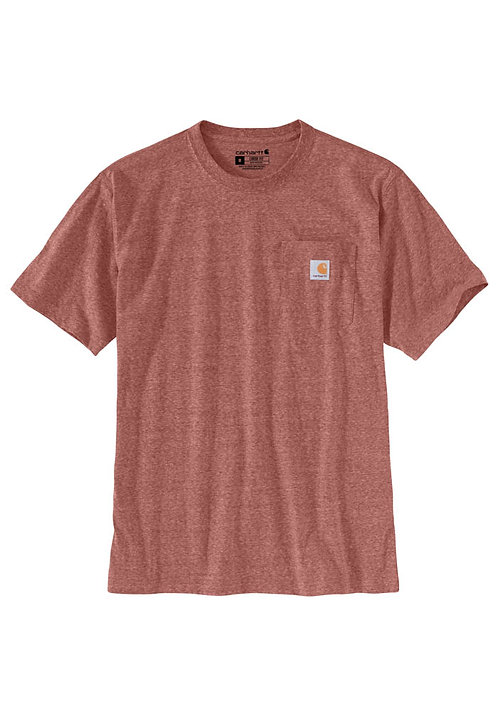 Carhartt Workwear Pocket T-Shirt K87-R47 Auburn Snow Heather
