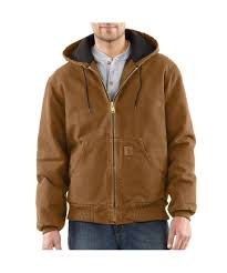 CARHARTT J130 SANDSTONE QUILTED FLANNEL-LINED ACTIVE JAC