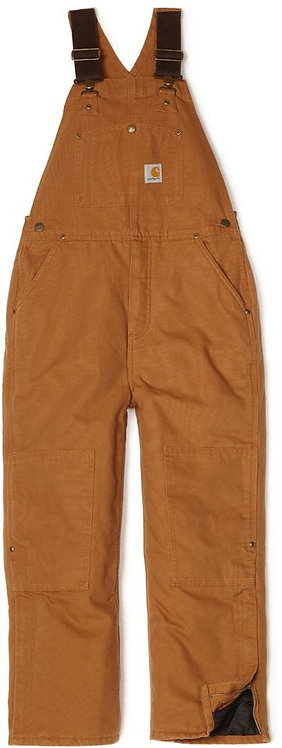 Carhartt Boy's Washed Duck Lined Bib Overall