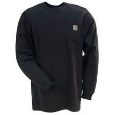 CARHARTT K126BLK WORKWEAR LONG-SLEEVE POCKET T-SHIRT BLACK