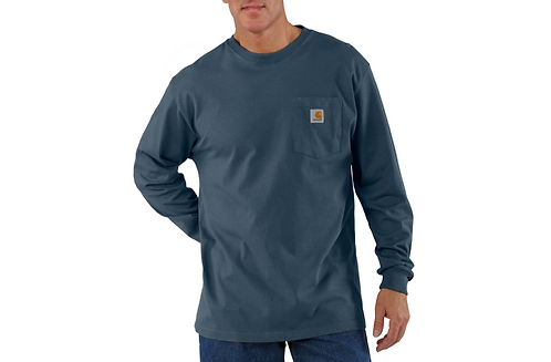 CARHARTT K126BLS WORKWEAR LONG-SLEEVE POCKET T-SHIRT BLUESTONE
