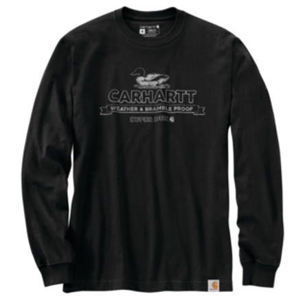 Carhartt 105060 Relaxed Fit Heavyweight Long-Sleeve Super Dux Graphic T-Shirt