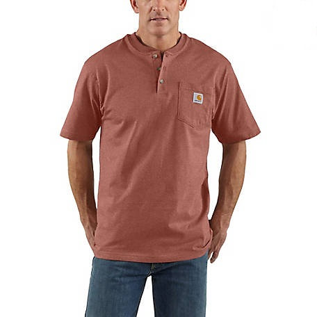 Carhartt Short Sleeve Workwear Henley K84-R38 Auburn Heather