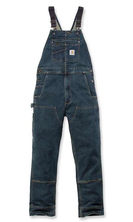 CARHARTT 103322-498 RUGGED FLEX® DENIM BIB OVERALLS
