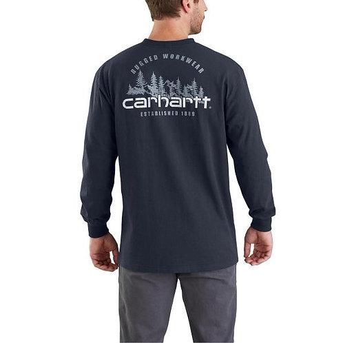 CARHARTT 103394 WORKWEAR RUGGED OUTDOORS GRAPHIC POCKET LONG-SLEEVE T-SHIRT