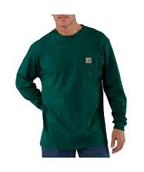 CARHARTT K126HTG WORKWEAR LONG-SLEEVE POCKET T-SHIRT HUNTER GREEN