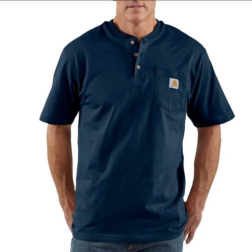 Carhartt Short Sleeve Workwear Henley Navy