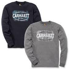CARHARTT 103357 MADDOCK RUGGED WORKWEAR LOGO GRAPHIC LONG-SLEEVE T-SHIRT