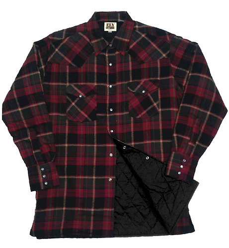 ELY CATTLEMAN Men's Quilted Flannel Shirt Jacket