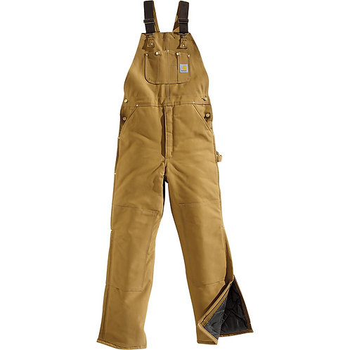 CARHARTT R03 DUCK BIB OVERALL / ARCTIC QUILT LINED