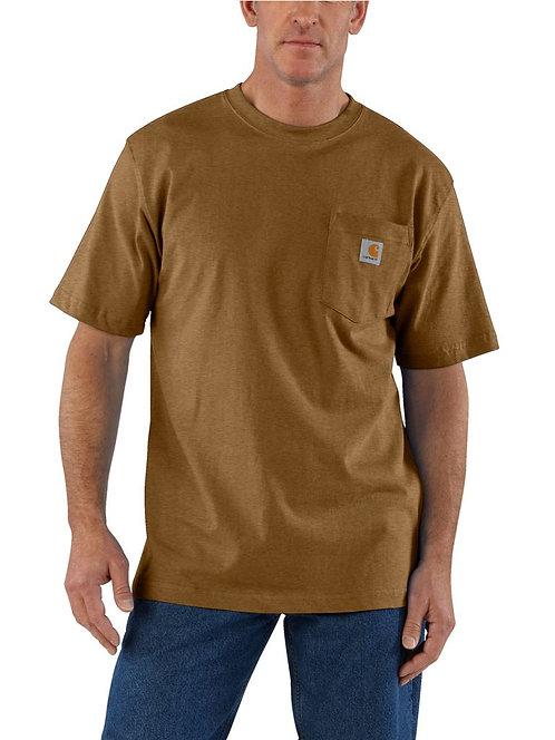 Carhartt Workwear Pocket T-Shirt B00 Oiled Walnut Heather