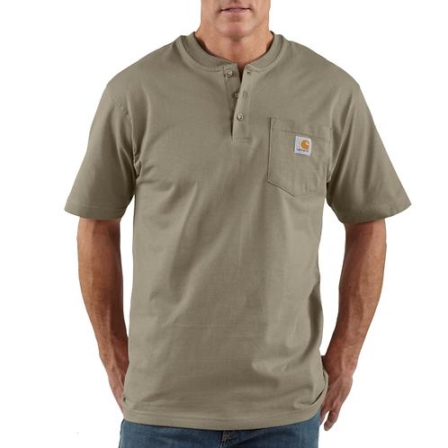 Carhartt Short Sleeve Workwear Henley Desert