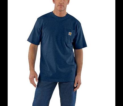 Carhartt Workwear Pocket T-Shirt 413-Dark Cobalt Blue Heather