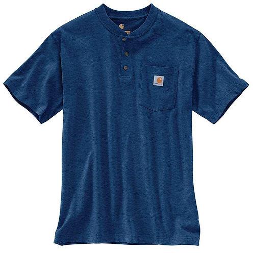 Carhartt Short Sleeve Workwear Henley 413-Dark Cobalt Blue