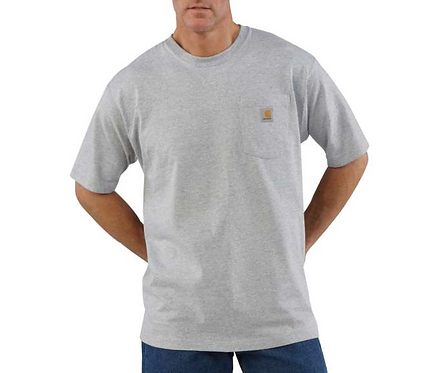Carhartt Workwear Pocket T-Shirt HGY-Heather Gray