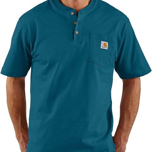 Carhartt Short Sleeve Workwear Henley 984-Stream Blue