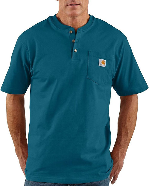 Carhartt Short Sleeve Workwear Henley 984-Stream Blue