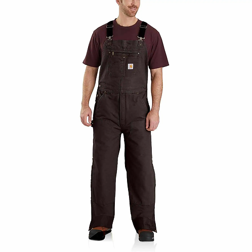CARHARTT 104031 QUILT-LINED WASHED DUCK BIB OVERALLS